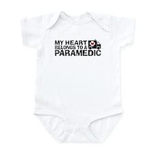 My Heart Belongs To A Paramedic Infant Bodysuit