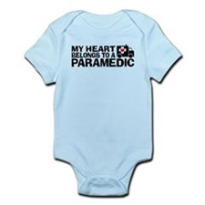 My Heart Belongs To A Paramedic Infant Bodysuit