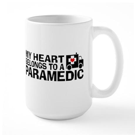 My Heart Belongs To A Paramedic Large Mug