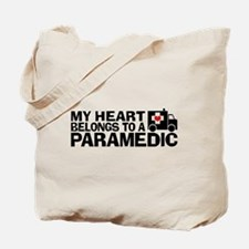 My Heart Belongs To A Paramedic Tote Bag