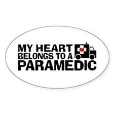 My Heart Belongs To A Paramedic Decal