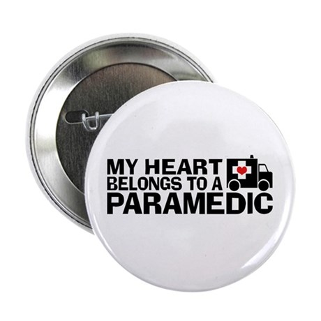 "My Heart Belongs To A Paramedic 2.25"" Button"