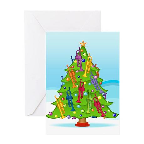 Trumpet Christmas Greeting Card