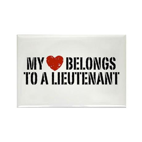 My Heart Lieutenant Rectangle Magnet