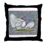White Holland Turkeys Throw Pillow