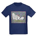 White Holland Turkeys Kids Dark T-Shirt