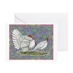 White Holland Turkeys Greeting Cards (Pk of 20)