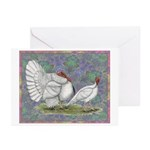 White Holland Turkeys Greeting Cards (Pk of 10)