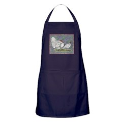 White Holland Turkeys Apron (dark)