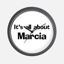 It's all about Marcia Wall Clock