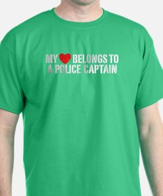My Heart Police Captain T-Shirt