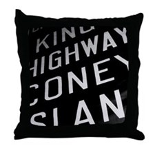 Kings Highway Coney Island Throw Pillow