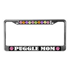 Puggle Mom License Frame