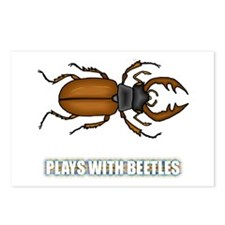 Plays With Beetles Postcards (Package of 8)