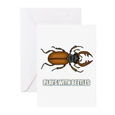 Plays With Beetles Greeting Cards (Pk of 10)
