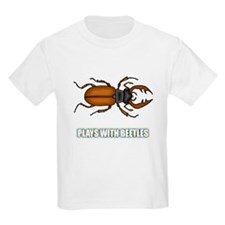 Plays With Beetles Kids T-Shirt