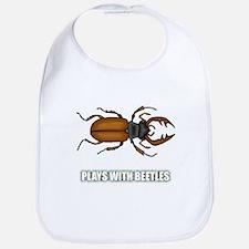 Plays With Beetles Bib