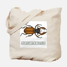 Plays With Beetles Tote Bag