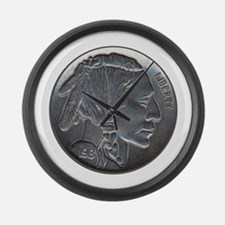 The Indian Head Nickel Large Wall Clock