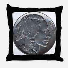 The Indian Head Nickel Throw Pillow