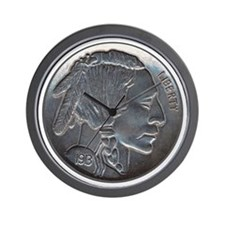 The Indian Head Nickel Wall Clock