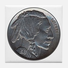 The Indian Head Nickel Tile Coaster
