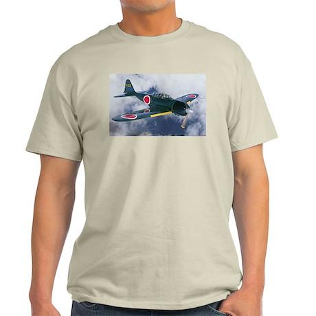 Japanese Zero Ash Grey T-Shirt