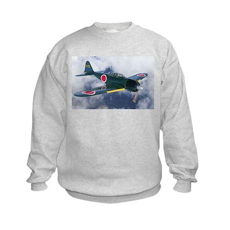 Japanese Zero Kids Sweatshirt