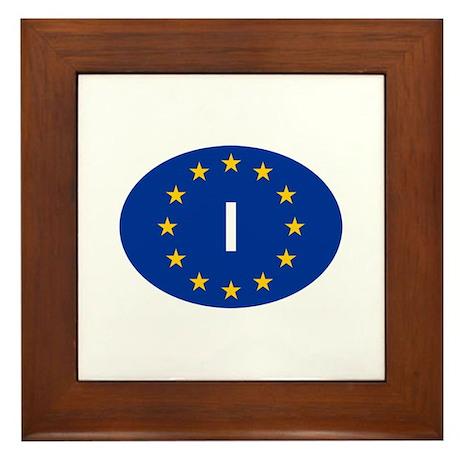 EU Italy Framed Tile