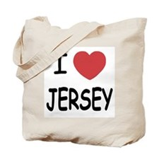 I heart Jersey Tote Bag