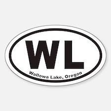 Wallowa Lake WL Euro Oval Decal