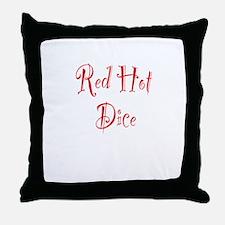 Red Hot Dice Throw Pillow
