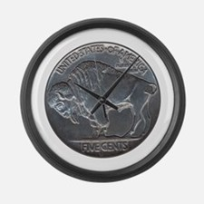 The Buffalo Nickel Large Wall Clock