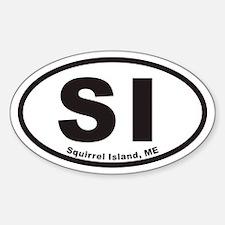 Squirrel Island SI Euro Oval Decal