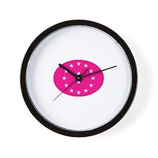 EU Pink Italy Wall Clock