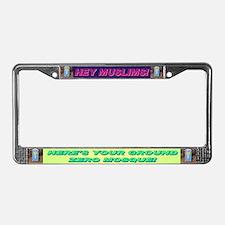 Ground Zero Mosque License Plate Frame