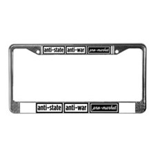 Anti-State, Anti-War, Pro-Mar License Plate Frame