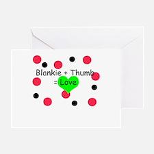 Blankie + Thumb = Love Greeting Card
