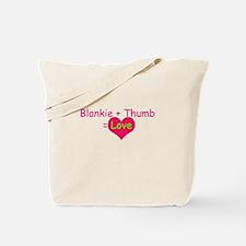 Blankie + Thumb = Love Tote Bag