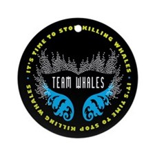 Team Whales Ornament (Round)