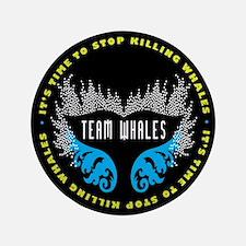 """Team Whales 3.5"""" Button"""
