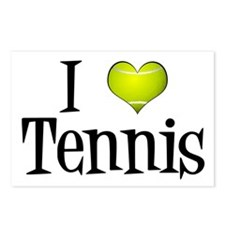 I Heart Tennis Postcards (Package of 8)