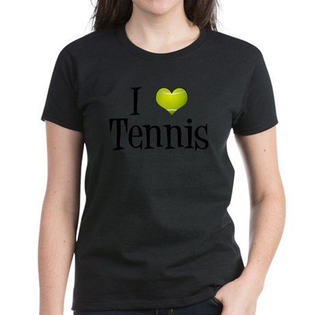 I Heart Tennis Women's Dark T-Shirt