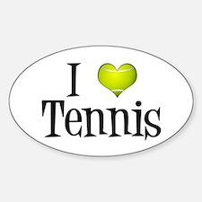 I Heart Tennis Decal