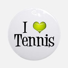 I Heart Tennis Ornament (Round)
