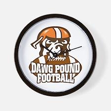 Dawg Pound Fans Wall Clock
