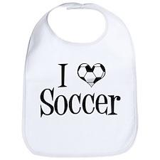 I Heart Soccer Bib