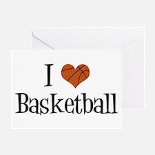 I Heart Basketball Greeting Card