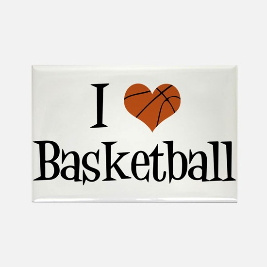 I Heart Basketball Rectangle Magnet