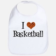 I Heart Basketball Bib